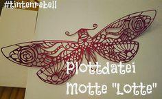 """Weiteres - Plottdatei Tintenrebell Motte """"Lotte"""" - ein Designerstück von Tintenrebell bei DaWanda"""