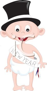royalty free clipart image of a new year baby 313210 iclipartcom