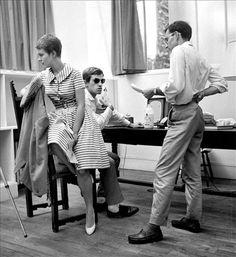 "Jean-Luc Godard directing ""Breathless,"" 1960."