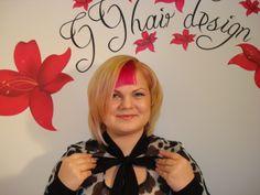 Avangard hair style done by Gunta