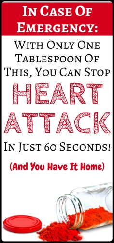 In case of emergency: How to Stop a Heart Attack in Just 60 Seconds – It's A Very Popular Ingredient in Your Kitchen Holistic Remedies, Natural Home Remedies, Natural Healing, Health Remedies, Health Facts, Health And Nutrition, Health And Wellness, Wellness Fitness, Health Fitness