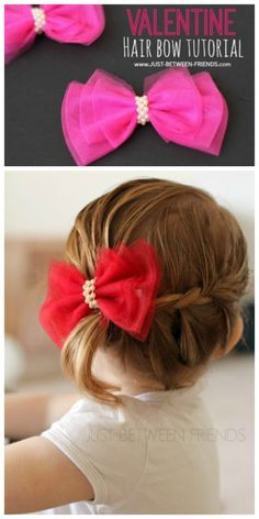 Check out this adorable Valentine Hair Bow tutorial