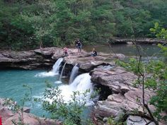 King River Falls Nature Area, in Arkansas, is a great place to see as part of a moderate to easy hike.
