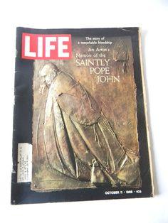 Life Magazine 1968 October Saintly Pope John Nixon Jim Ryun Tony curtis Vietnam