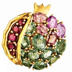 Verdura | Products | EARCLIPS | Pomegranate Earclips