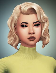 Vintage Glamour Stuff Hairs - Recolored/Retextured• 30 of my natural colors + black and white • Enhanced Texture • Standalone with custom catalog thumbnails • Requires Vintage Glamour Stuff in order...