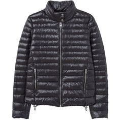Mango Quilted Jacket ($47) ❤ liked on Polyvore featuring outerwear, jackets, women coats & jackets, snap jacket, quilted jackets, zipper jacket, zip jacket and duck down jacket