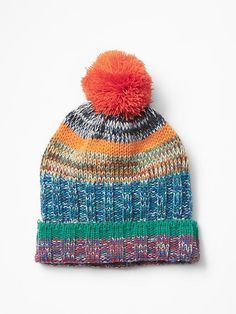 Multi-color stripe beanie