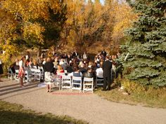 Silverthorne Pavilion - Outside Ceremony Space by the Blue River. This can accommodate up to about 100 people. Festival Wedding, Pavilion, Wedding Designs, Tent, Colorado, Dolores Park, The Outsiders, How To Memorize Things, River