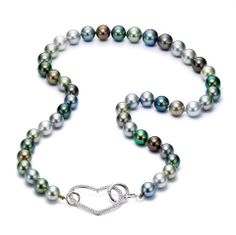 Mastoloni Pearls multicolored pearl necklace at www.Houstonjewelry.com