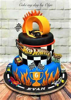 hot Wheels Birthday Cake Hot wheels birthday cake
