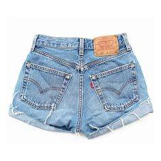 Ripped Jean Shorts Basic Frayed Distressed Concert Ready- Denim Levi... ($45) ❤ liked on Polyvore featuring shorts, bottoms, pants, short, ripped denim shorts, high-waisted shorts, cut off jean shorts, vintage high waisted shorts and denim shorts