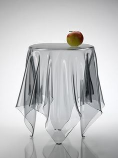 "Transparent ""Cloth"" Table, love this! want for barn appt."