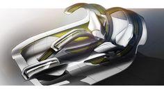 ISD Rubika Pininfarina Protezione Materna Concept - Design Sketch Render