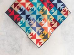 Beginner Level - Pathfinder Solids Mojave Quilt Kit from Craftsy. This colorful quilt is made entirely of Fat Quarter Solids. A beautiful Throw to add color & brightness to any room. Quilting Classes, Quilting Projects, Sewing Projects, Quilting Ideas, Sewing Ideas, Diy Projects, Quilt Kits, Quilt Blocks, Midnight Quilt Show