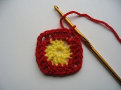 The Adventures of the Gingerbread Lady: Solid Crochet Square