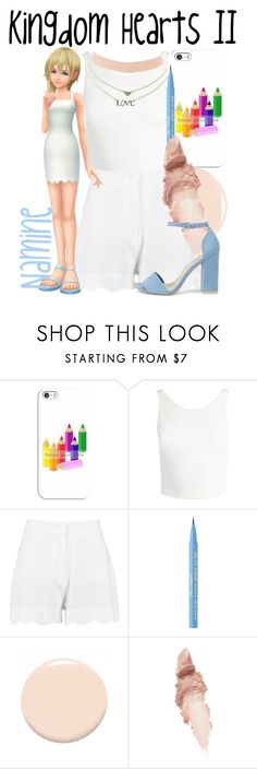 """Namine from Kingdom Hearts II"" by imanirine ❤ liked on Polyvore featuring Casetify, Sans Souci, Boohoo, Too Faced Cosmetics, Christian Dior, Maybelline, Nly Shoes and Charlotte Russe"