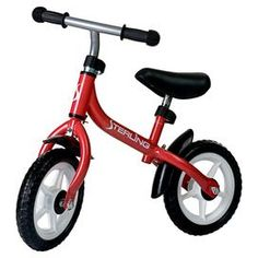 """Teach your little one how to ride with this mini balance bike, featuring an easily maneuverable design and cushioned seat.  Product: Balance bikeConstruction Material: MetalColor: RedFeatures:  10"""" Tire heightCushioned seatAdjustable seat Adjustable handlebars Suitable for children age 3 and up 16-17.5"""" Seat height  Dimensions: 21.5""""H x 27.5"""" W"""