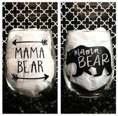 Mama Bear Wine Glass, Baby Shower Gift, Gift for Her, New Mom Gift, Gift For Mom, New Baby Gift, Mother's Day Gift, Gift For Wife, Mom Gift by WattsGoodArtistry on Etsy