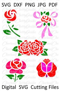 Flower SVG Mothers day clipart Rose SVG Mother's day Clip