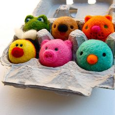 Mini felted animals by asherjasper, via Flickr