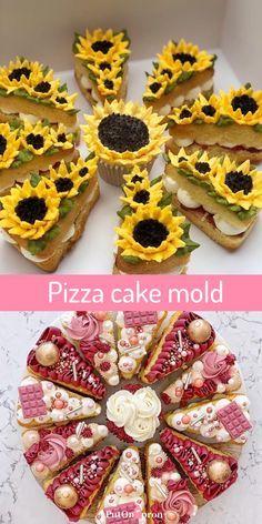 Pizza Cupcakes, Pizza Cake, Cupcake Cakes, Pizza Birthday Cake, Cookie Cake Birthday, Alphabet Cake, New Cake, Dessert Decoration, Cake Decorating Techniques