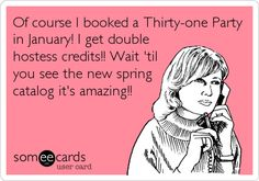 January is a great month to book a Thirty-One party - a terrific customer special + Double Hostess Cash! Please let me know if you want in on the fun! www.mythirtyone.com/rw