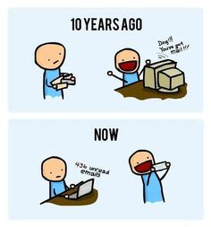 Emails : 10 years ago and now. So true.