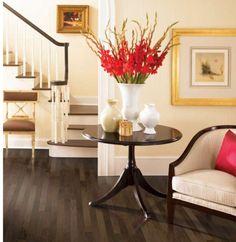 Romantic decor featuring dark hardwood flooring from Mohawk.