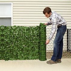 "Faux Ivy Privacy Fence Screen 59 X 94"" - Walmart.com"
