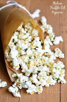 Italian Truffle Oil Popcorn | from willcookforsmiles.com