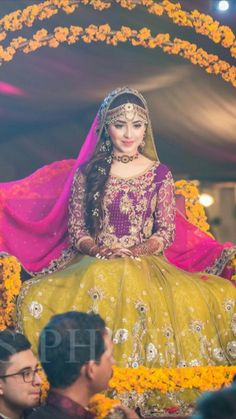 Pakistani Mehndi Dress, Bridal Mehndi Dresses, Asian Wedding Dress, Pakistani Wedding Outfits, Bridal Dress Design, Pakistani Bridal Dresses, Pakistani Dress Design, Pakistani Wedding Dresses, Bridal Outfits