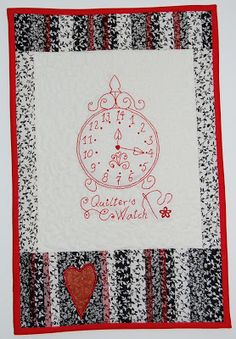 Quilt Inspiration: Free pattern day ! Redwork (part 1)