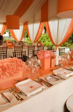 Adding two tone colors to your party tent makes it really pop