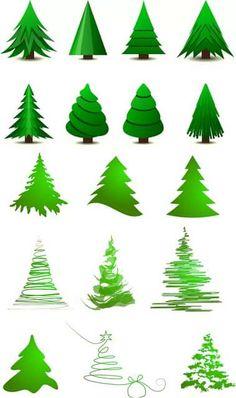 рисунок стилизованная елка: 10 тыс изображений найдено в Яндекс.Картинках