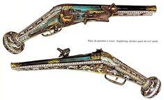 fin 16ème allemagne augsbourg pistolets à rouet k10