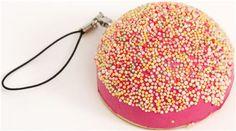 pink sprinkles bread bun squishy charm
