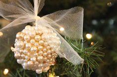 DIY pearl ornaments.