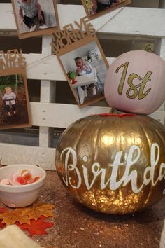 My little pumpkin birthday party Halloween 1st Birthdays, Halloween First Birthday, Fall 1st Birthdays, Pumpkin 1st Birthdays, Pumpkin Birthday Parties, 1st Birthday Party For Girls, Birthday Ideas, Happy Birthday, Pumpkin Patch Birthday