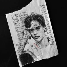 Receipt Art By Michael Moccia. Michael Moccia is one of the artists who produce the most diverse and modern works in the field of creative paint. Arte Inspo, Kunst Inspo, A Level Art Sketchbook, Arte Sketchbook, Pretty Art, Cute Art, Kunst Portfolio, Art Hoe, Sketchbook Inspiration