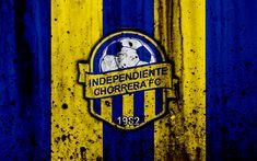 Download wallpapers FC Independiente Chorrera, 4k, grunge, Liga Panamena, logo, football club, Panama, Independiente Chorrera, soccer, LPF, stone texture, Independiente Chorrera FC