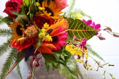 tropical bridal bouquets | trial wedding bouquet created about two months prior to her wedding ...