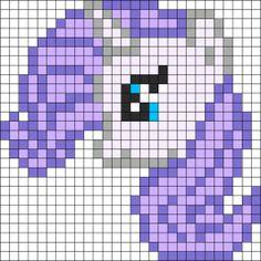 Rarity Perler Bead Pattern | Bead Sprites | Characters Fuse Bead Patterns