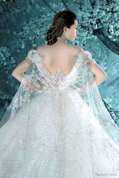 Amazing back detail wedding dress| Michael Cinco bridal 2012