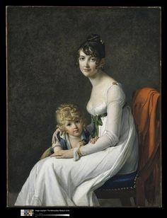 Madame Philippe Desbassayns de Richemont (Jeanne Eglé Mourgue) (1778-1855) et son fils, Eugène (1800-1859) vers 1802-1803, par Marie Guillermine Benoist , née Laville-Leroulx (1768-1826)