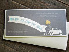 Printable Baby Shower Invite: Car. $10.00, via Etsy.