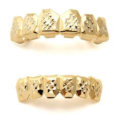 King Ice Gold Diamond Cut Grillz