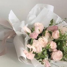 ♡ Beautiful Bouquet Of Flowers, Flowers Nature, My Flower, Beautiful Flowers, Flower Aesthetic, Pink Aesthetic, Luxury Flowers, No Rain, Planting Flowers
