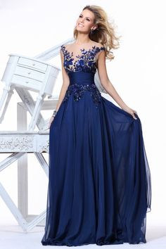 Shop Prom Dress Scoop Sweep Train Embroidery 2014 New Style Online affordable for each occasion. Latest design party dresses and gowns on sale for fashion women and girls.