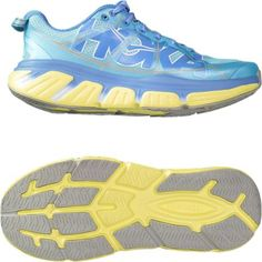 HOKA ONE ONE Women's Infinite Road-Running Shoes Sky Blue/Sunny Lime 10.5